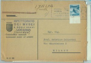 89082 - SWITZERLAND - POSTAL HISTORY - COVER from ARCHEOLOGICAL MUSEUM 1947