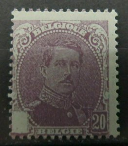 BELGIUM SEMI-POSTAL STAMP 1914 20c ESSAY PROOF WITHOUT CROSS MNG  A16P58F647