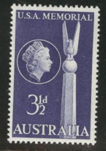 AUSTRALIA Scott 280 MNH** 1955 US Monument @ Canberra