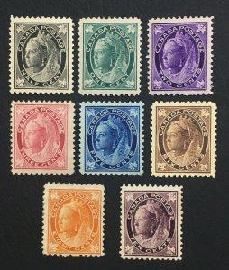 MOMEN: CANADA SC #66-73 1897-8 MINT OG H LOT #60577