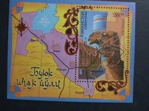 UZBEKISTAN-1995 SC# 74 -MAP OF MOSQUE SITES- SILK ROAD S/S MNH-VERY FINE