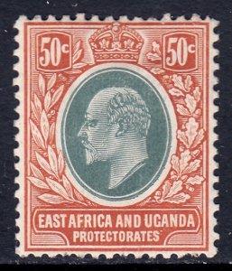 East Africa and Uganda - Scott #38 - MH - Pulled perfs at bottom - SCV $14.50