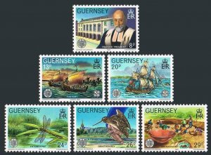 Guernsey 240-245,MNH.Michel 245-250. EUROPE CEPT-1982,Sailing ships,Dragonfly,