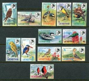 Lesotho 321 - 332 Birds MNH Short Set 1981