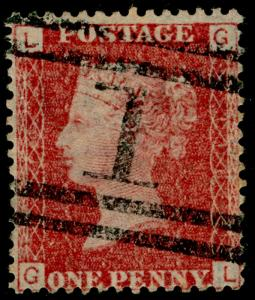 SG43, 1d rose-red plate 116, FINE USED. Cat £11. GL