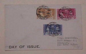 RHODESIA NORTHERN  1937 FDC  KING GEORGE VI