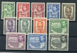 KGVI SOMALILAND PROTECTORATE 1938 GOOD SET SCOTT 96-107 SG 93-104 PERFECT MH