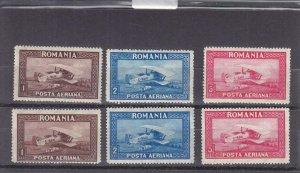 Romania: Sc #C1-C6, MH (34810)
