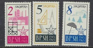 Albania 793-95 MNH 1965 Symbols of Industry (ha1024)