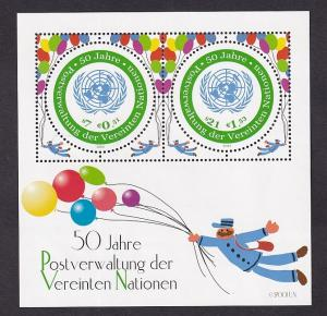 United Nations Vienna  #296  MNH  2001  sheet postal administration 50 years