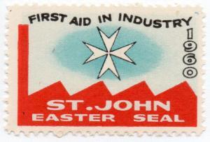 (I.B) New Zealand Cinderella : St John Ambulance Easter Seal (1960)