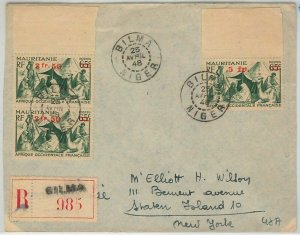 45125 - AOF  NIGER / MAURITANIA -  POSTAL HISTORY: REGISTERED COVER from BILMA