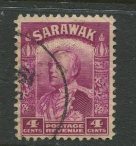 Sarawak -Scott 114 - Sir Charles V.Brooke - 1934 - Used - Single 4c Stamp