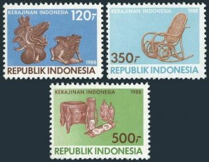 Indonesia 1339-1341,MNH.Michel 1249-1251. National Craft Council,8th Ann.1988.