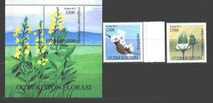 Uzbekistan. 2015. 1126-27, bl75. Flowers flora. MNH.