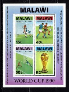 Malawi 569a NH 1990 World Cup Souvenir Sheet