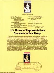 US SP849 House of Representatives 2412 Souvenir Page FDC