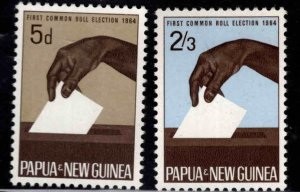 Papua Scott 182-183 Election set MNH**