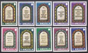 Anguilla Sc #526-535 MNH