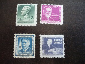 Stamps - Cuba - Scott#543-546 - Mint Hinged Set of 4 Stamps