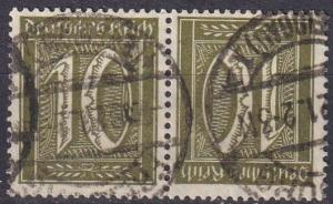 Germany #138a  F-VF Used Tete-Beche Pair CV $37.50 (A19230)