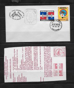 DOMINICAN REPUBLIC STAMPS,COVER HISPANIDAD  1978 #F34