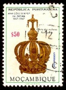 Mozambique 1967 Virgin's Crown, Virgin Mary, Fatima 50c Scott.480 Used (#8)