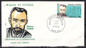 Wallis & Futuna, Scott cat. 263. Pierre Curie, Scientist. First day cover.