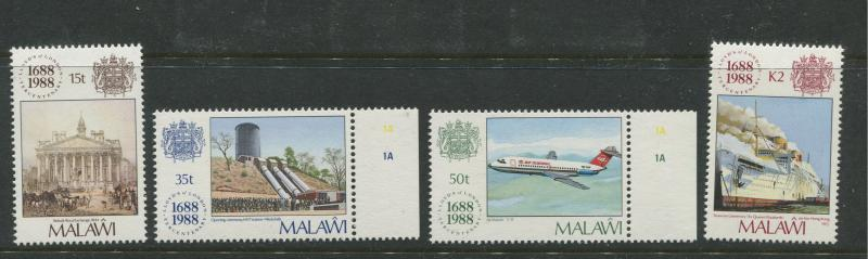 Malawi -Scott 534-537 - Lloyds Issue -1988 - MNH - Set of 4 Stamps