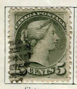 CANADA; 1870s early classic QV Small Head issue used 5c. value