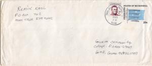 Caroline Islands Micronesia 2c Duperrey on 20c Four-Star Flag Envelope 1985 T...