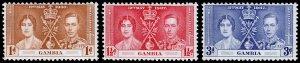 Gambia Scott 129-131 (1937) Mint NH VF Complete Set C
