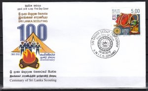 Sri Lanka, 2012 issue. Scouting Centenary of Sri Lanka, First day cover.  ^