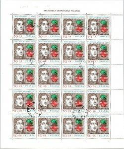 Poland canceled full stamp plate block Boguslawski MNH