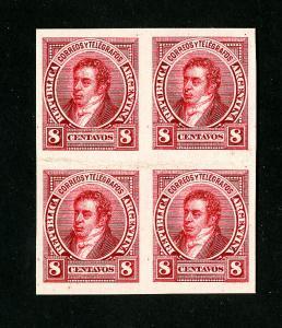 Argentina Stamps # 85 Block of 4 Cardboard Proof