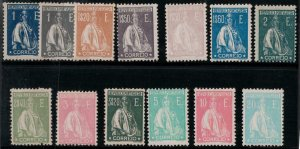 Portugal 1923 -1926 SC 8-21,14a Mint SCV $919.00 Set
