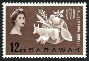 Sarawak 212, MNH. FAO. Freedom from Hunger campaign. Protein Food, 1963