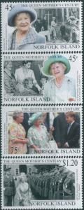 Norfolk Island 1999 SG712-715 Queen Mother set MNH