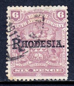 Rhodesia - Scott #89 - Used - Toning specks - SCV $7.50