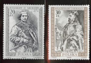 Poland Scott 2932-33 MNH** 1989 Royalty set