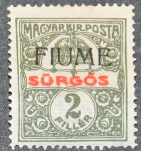 DYNAMITE Stamps: Fiume Scott #E1 – MINT hr