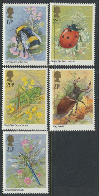 GB SG 1277 - 1281  SC# 1098-1102 Mint Never Hinged - Insects