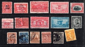 US STAMP 20TH  OLD USED STAMPS COLLECTION LOT