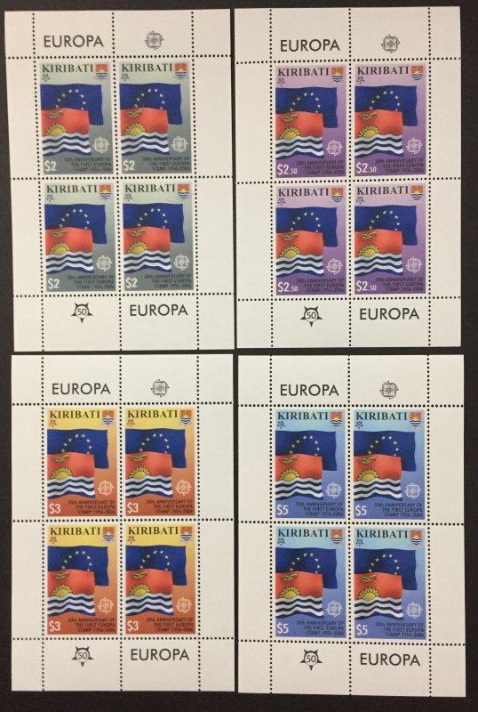 Kirbati 2006 #884-7 Sheetlet's, Europa 50th Anniversary, MNH.