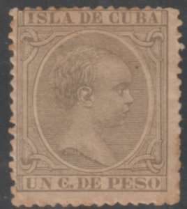 1890-97 Caribbean Stamps Sc 132 King Alfonso Spain 1c  NEW