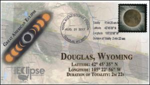 17-228, 2017, Total Solar Eclipse, Douglas WY, Event Cover, Pictorial Cancel,
