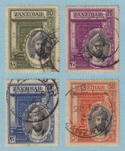 ZANZIBAR 214 - 217  USED - NO FAULTS VERY FINE! - V116