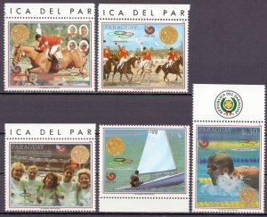 Paraguay. 1989. 4304-8 bl456 KLB 4308. Sport. MNH.