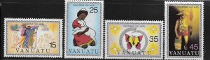 VANUATU, 315-318, MNH, 1981 CHRISTMAS