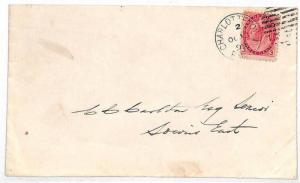 VV119 1899 Canada PRINCE EDWARD ISLAND Charlotte Town Cover {samwells-covers}